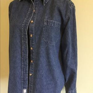 Women's denim button down shirt